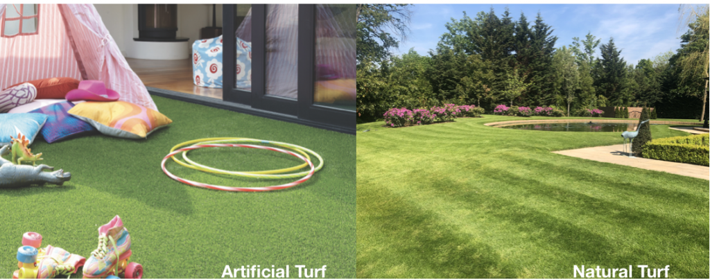Artificial or natural turf