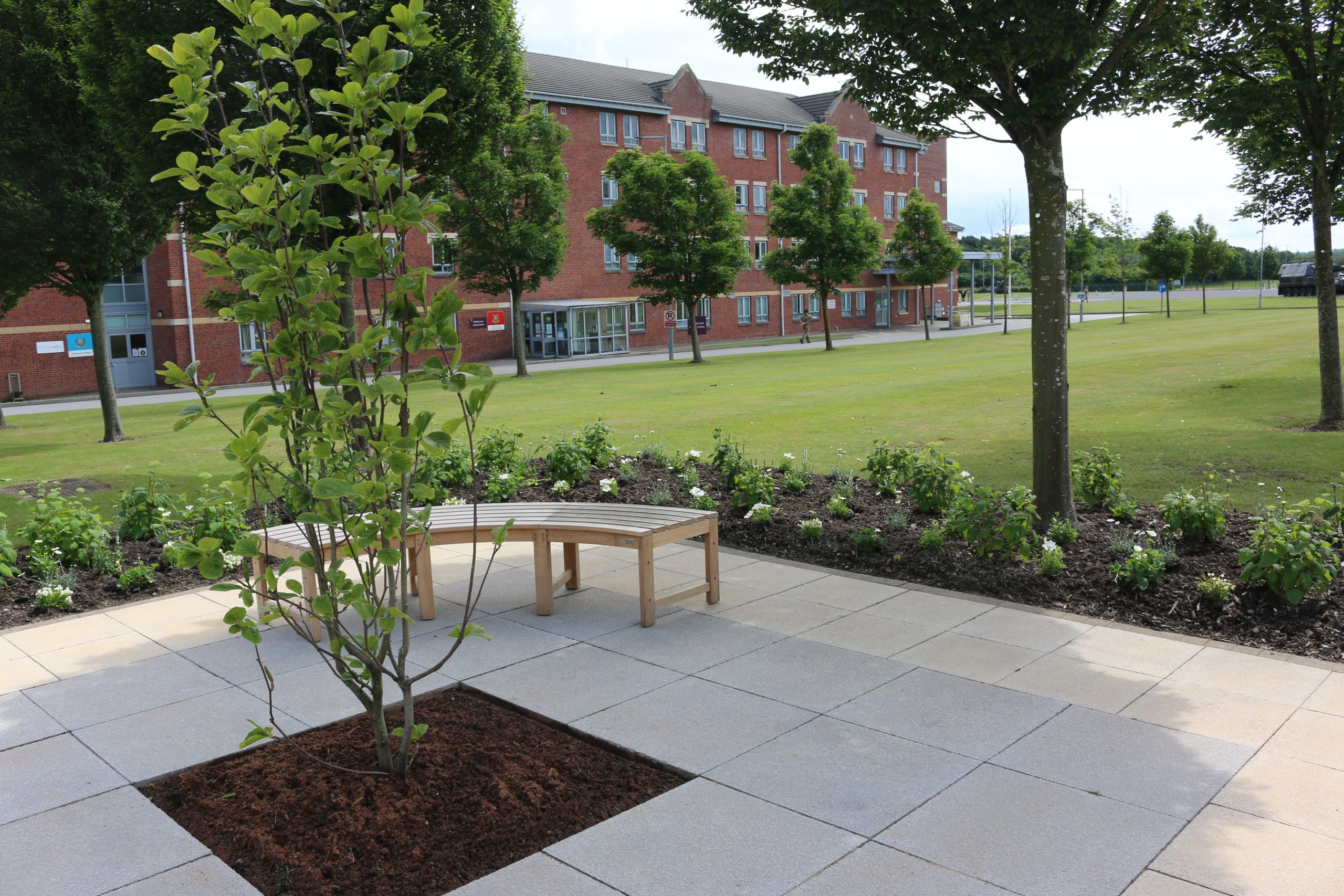 Sir Tom memorial – a tribute from a landscaping firm and nursery suppliers