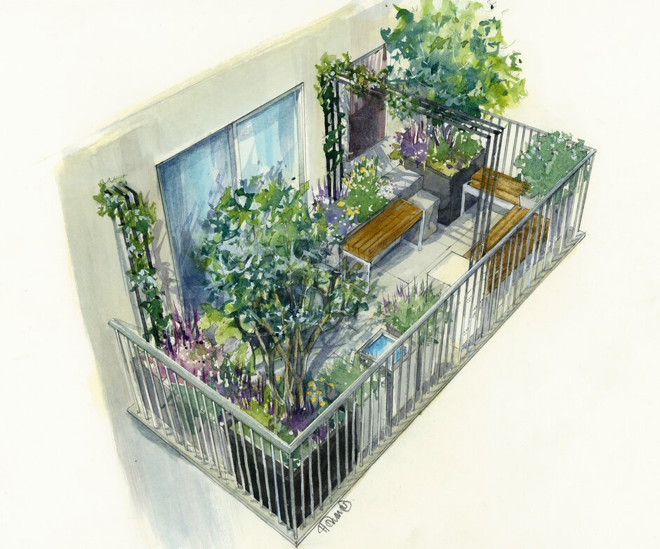 Balcony gardens championed at RHS Chelsea